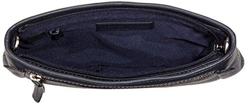 GERRY WEBER Napoli II Clutch - Bolso de mano de cuero mujer azul - Blau (dark blue 402)