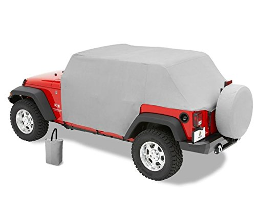 Bestop 81041-09 Charcoal All Weather Trail Cover for 2007-2018 Wrangler JK Unlimited (Bestop Door Wrangler Jeep)