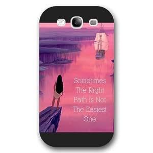 Customized Black Frosted Disney Princess Pocahontas Samsung Galaxy S3 Case
