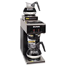 Bunn VP17-2 BLK Pourover Coffee Brewer with 2 Warmers