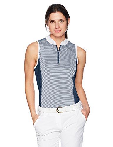 (Skechers Women's Fairway Sleeveless Mock Neck Polo, Dress Blues, XXL)
