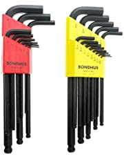 Bondhus 20199 Balldriver L-Wrench Double Pack, 10999 (1.5-10mm) and 10937 (0.050-3/8-Inch)