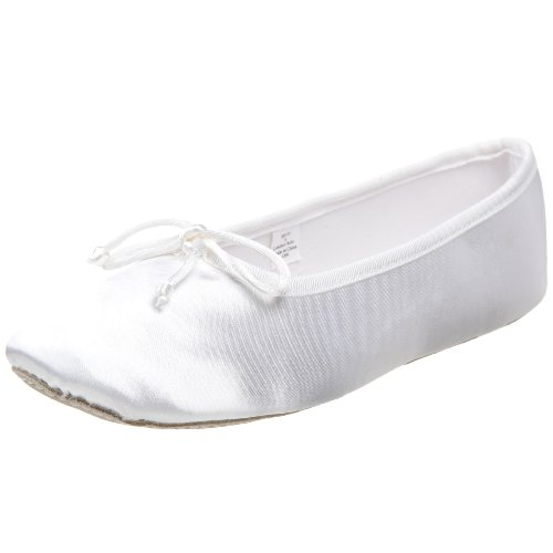 Dance Class SB101 Dyeable Satin Ballet (Toddler/Little Kid),White,3 M US Little Kid - Dyeable Childrens Shoes