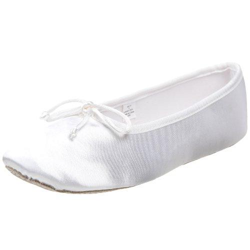 Dyeables Kids Shoe (Dance Class SB101 Dyeable Satin Ballet (Toddler/Little Kid),White,4 M US Big)