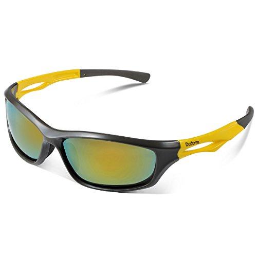 Duduma Polarized Sports Sunglasses for Baseball Running Cycling Fishing Golf Tr90 Durable Frame
