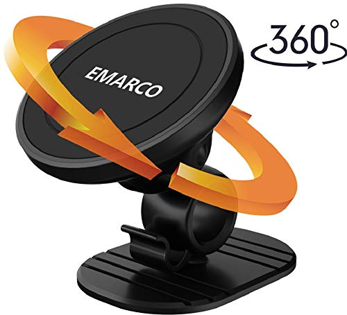 Emarco Magnetic Mount, Magnetic Car Mount, Super Strong Adhesive for Smart Phones and Mini Tablets, Magnetic Cell Phone Mount