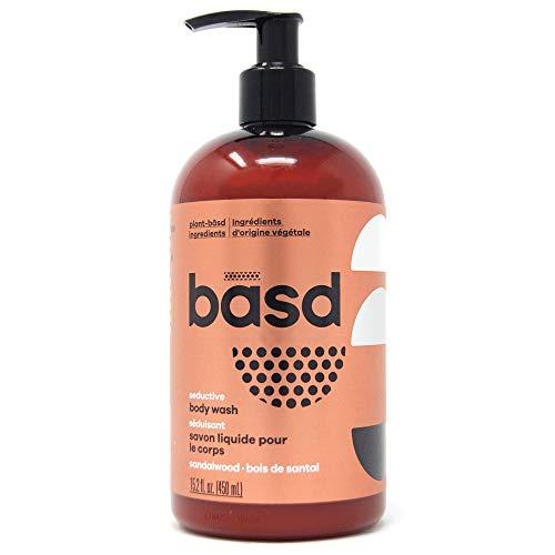 Basd, Organic Body Wash, Seductive Sandalwood, Moisturizing, Natural Skin Care, Vegan, Hypoallergenic, Aloe Vera Juice, Green Tea, 15.2 Ounce Bottle