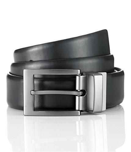 Alfani Mens Bonded Leather Belt Black (Alfani Belt)