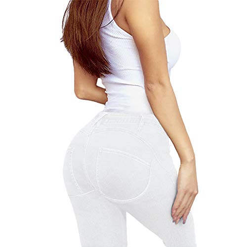 Women's Extreme Butt Lift Stretch Denim Jeans P46862SKX White ()