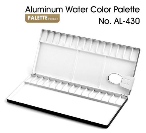 Heung Il Aluminum Watercolor Palette 13,20,26,30,35,39,65 Compartments Painting (AL-430) by Heung Il