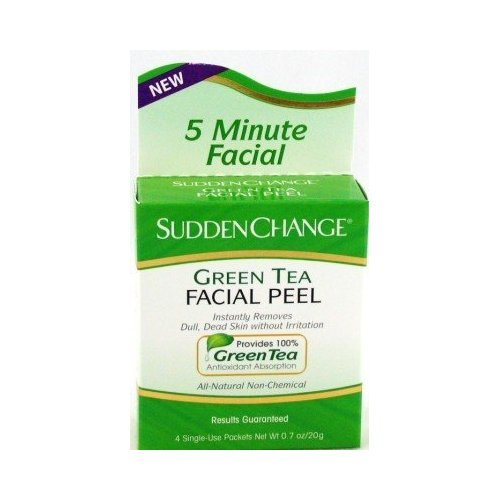 sudden change green tea facial peel
