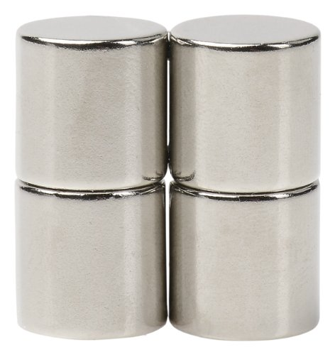 BYKES 4 Neodymium Super Strong Extremely Powerful Rare Earth Refrigerator Magnets 1/2 x 1/2 inch Cylinder ()