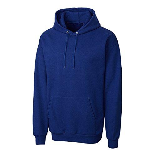 Cutter & Buck MRK02003 Men's Basics Fleece Pullover Hoodie, Tour Blue - 7XL