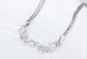 ebb269faf7a4 Hosaire Pulseras de plata de perforación de destello letra LOVE Amantes Regalo  Pulseras Nuevo Estilo para. Cargando imágenes.