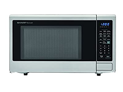 Sharp Countertop Microwave Oven ZR451ZS 1.3 cu. ft. 1000W Stainless Steel with Sensor Cooking