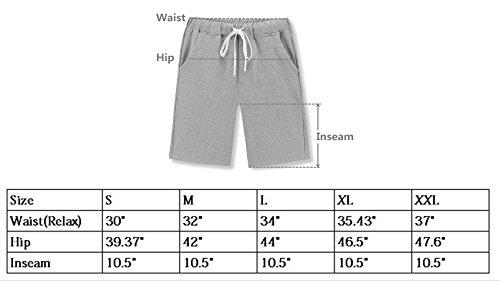 481843bc67 Janmid Men's Casual Classic Fit Cotton Elastic Jogger Gym Shorts ...