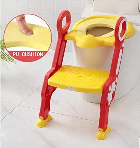 MASODHDFX Asiento de Inodoro para bebé Escalera Ajustable para bebé Silla de Entrenamiento para IR al baño Taburete de Paso Entrenador de Inodoro de Seguridad para niños Asiento para niños,E: Amazon.es: Hogar