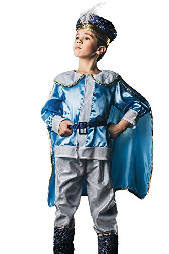 Kids Boys Royal Costume Fairy Tale Prince His Majesty Renaissance Tudor Dress Up (6-8 years, (Fairy Tale Ball Costume Ideas)