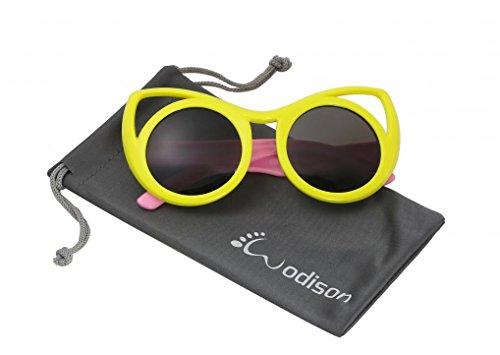 WODISON Cat eye Style Kids Polarized Sunglasses Flexible Rubber for Age 3 to - Cat Polarized 3