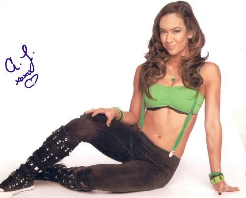 A.J. AJ Lee sexy WWE diva signed reprint signed photo #3 RAW GM RP