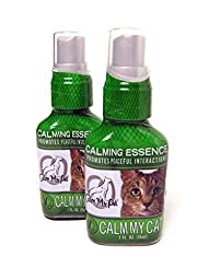Calm My Pet Unscented Organic Calming Spray for Cats, 1 oz.