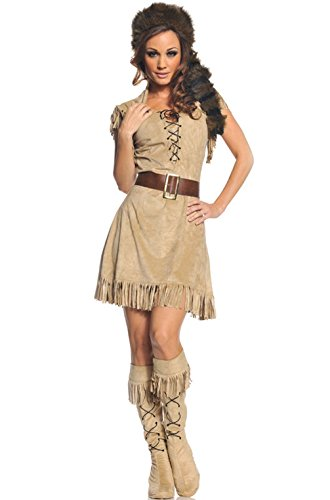 Mememall Fashion Western Cowgirl Wild Frontier Women Outfit Adult Costume (Real Spiderman Outfit)