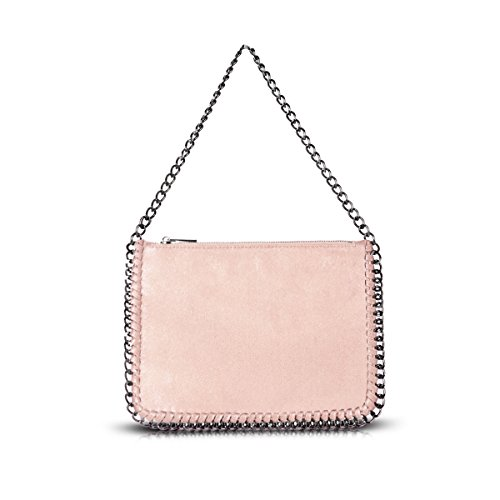 Shoulder Pink Edge Gn60624 Ladies Stella Women's Bag Chain Metallic Light Designer Handbag qgw4twP