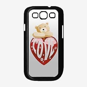 Love Cute Bear - TPU Rubber Silicone Phone Case Back Cover (Samsung Galaxy S3 I9300)