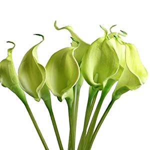 Iuhan 10pcs Mini Artificial Calla Lily Wedding Flowers Bouquet Calla Lily Foam Decor 4