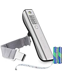 Digital Luggage Scale, WGGE Travel Luggage Weight Scale, Max 110lbs/50kg Baggage Scale with Backlit LCD Display