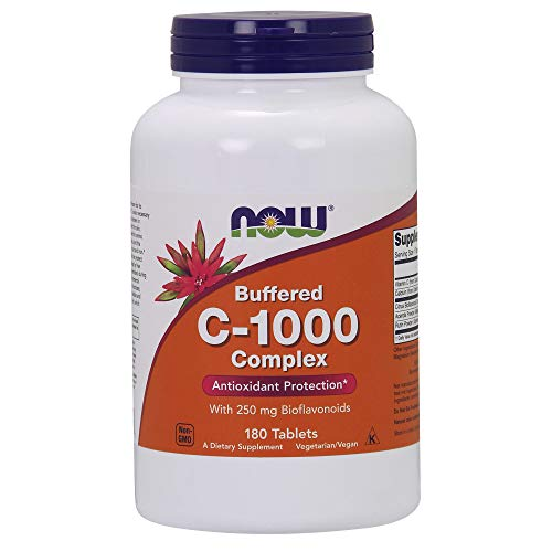 (NOW Supplements, Vitamin C-1000 Complex, 180 Buffered Tablets)