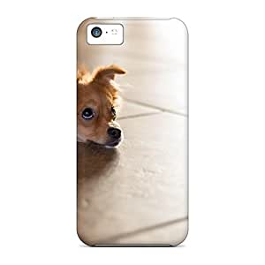 New Snap-on CaroleSignorile Skin Cases Covers Compatible With Iphone 5c- Small Sad Dog