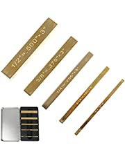 5 PCS Solid Brass Setup Blocks Height Gauge Set, JOJOCY Saw Height Gauges Setup Bars for Router Table Saw Accessories Woodworking