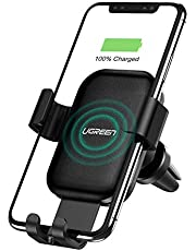 UGREEN Wireless Charger Car Phone Mount, 10W Qi Automatic Clamping Dashboard Air Vent Phone Holder
