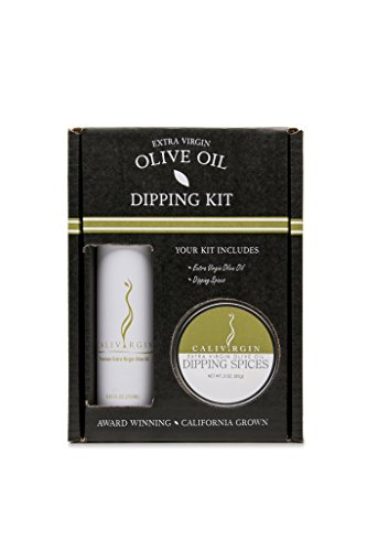 Calivirgin Olive Oil Dipping Kit - Includes Calivirgin Premium Extra Virgin Olive Oil (250ml) & Gourmet Dipping Spices