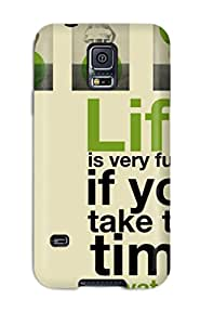 New Shockproof Protection Case Cover For Galaxy S5 Funny Life Quotes Case Cover