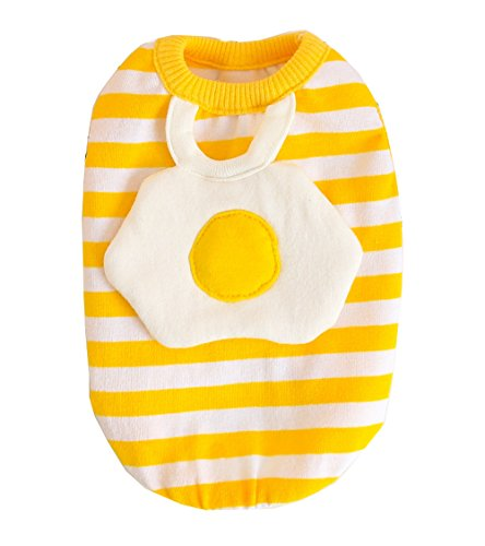 BBEART Pet Clothes, Small Dog Clothes Cat Clothes Lovely Egg Design Pet Clothes Soft Vest Holiday Halloween T Shirt Dog Clothes for Small Dogs Cat Puppy Clothes Spring and Summer (M-Length 26cm)]()