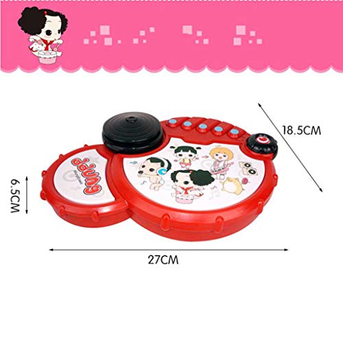 LIPENG-TOY Baby Toys Baby Pat Drums Children's Hand Drums Music Children Boys and Girls 6-12 Months Early Education Puzzle (Color : Red) by LIPENG-TOY (Image #3)