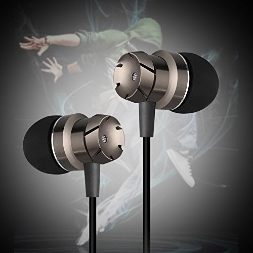 Earbuds with Microphone, Amuoc In-Ear Earphones with Mic Music Stereo Ear buds.- (Upgraded version)