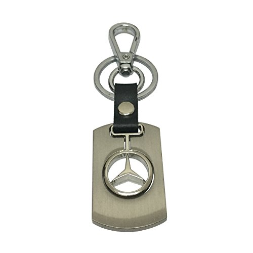 Chrome Metal Key Keychain Ring (Daiden Chrome Metal Keychain Key Chain Ring Keyring Keyfob Key Holder for Mercedes Driver Car Enthusiast Automotive)