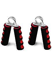 اداة مقاومة لتمارين اليد لتدريبات القوة - مقابض فوم مزدوجة اللون - احمر/اسود