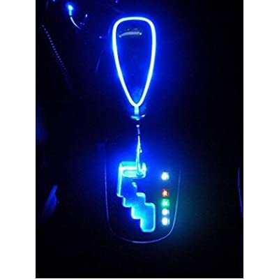 XYZCTEM Universal 110mm Touch Activated Ultra Blue LED Light Illuminated Shift Knob,Fits for Most Cars with Button-Less Operated Shifter-Make Sure Fits Your Car Before Place Order: Automotive