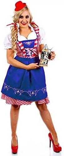 M, Style 1 Perfetto per Il Carnevale e lOktoberfest 4 Taglie Diverse Set di Costumi da Donna thematys Dirndl Oktoberfest Abito Tradizionale