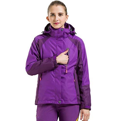 Imperméable Capuche women Poches Rose Et Travel Hiver Fleece Vestes coloré Avec Purple Taille women Extérieure Compressible Veste Oudan Unisexe Softshell Medium qBR7wvY