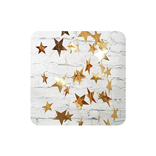 Bright 33pcs Paper Star Garlands Happy Birthday Banner Party Decorations Kids Boy Girl Bedroom Baby Shower Adult 1st,Gold 2]()