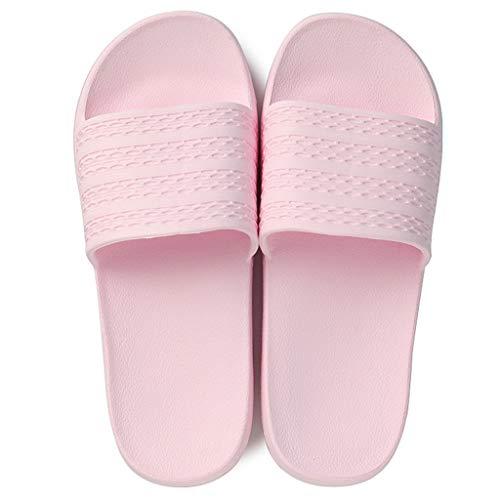 Salle Maison Pink AMINSHAP Pink 39EU 38 Taille Pantoufles Et Bains Été Drag Intérieur Pantoufles Antidérapantes Couple Femmes De Couleur Sandales Accueil Slip IFTI8