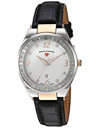 Swiss Legend Women's 'Passionata' Quartz Stainless Steel and Leather Automatic Watch, Color:Black (Model: 10220SM-SR-02)