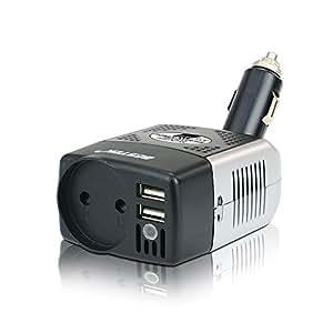 BESTEK Inversor De Corriente 150W 12v A 220v Para Coche, Convertidor 12v 220v, Transformador Con 2 Puertos USB Y Adaptador De Mechero De Coche