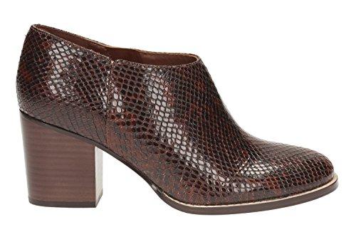 Block Tan Women's Clarks Dark Heel Ada Suede Snake Boots Shoe Othea R5q8pxOq