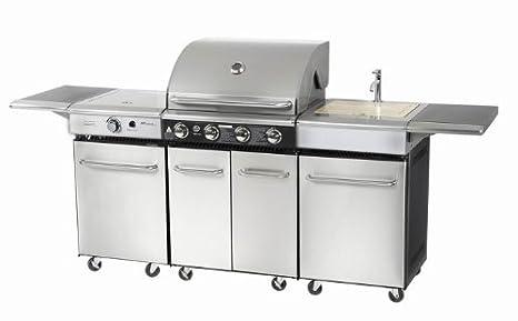 Barbecue a gas, Cucina da esterno in acciaio inox CKW CHAMPETRE ...